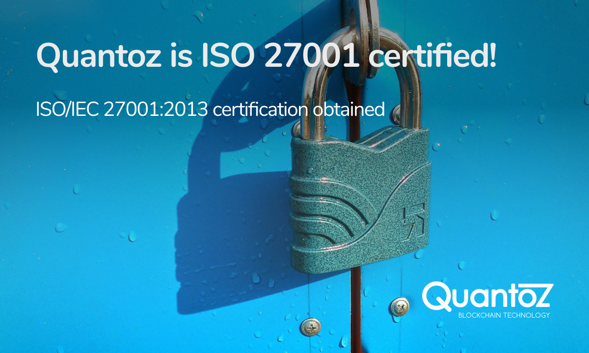 Quantoz ISO 27001 certification